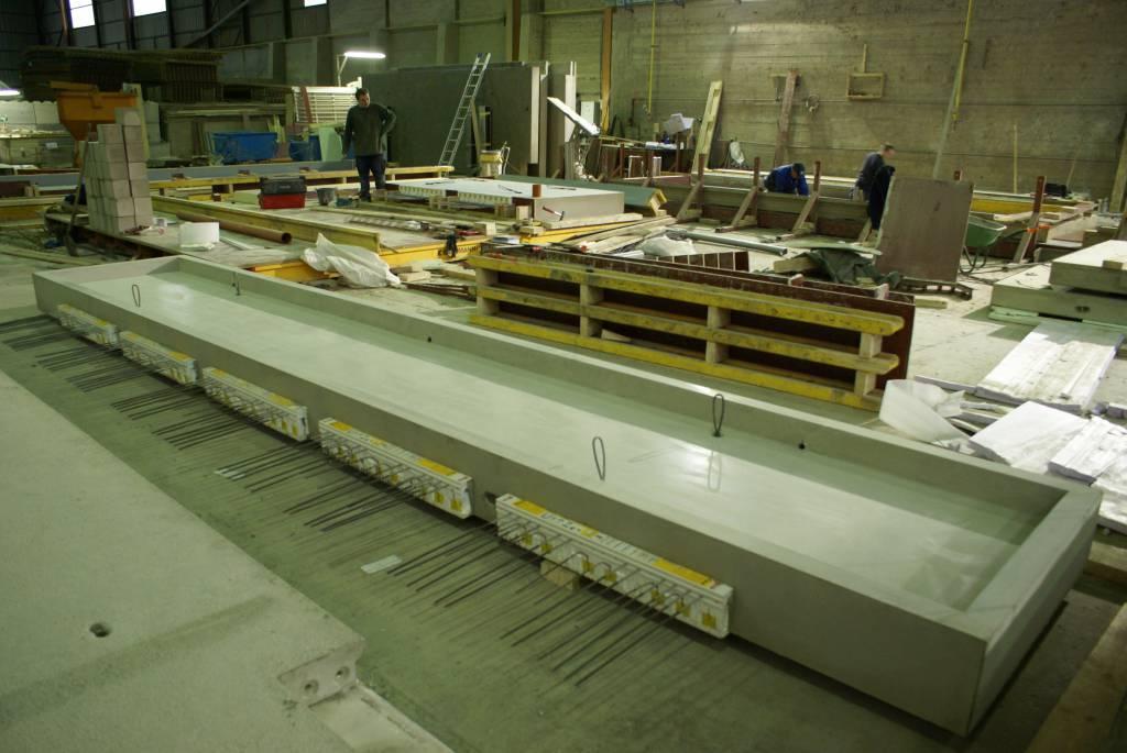 Balcon en béton préfabriqué