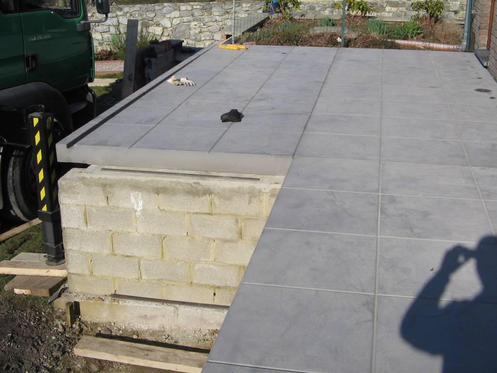 Terrasse en béton préfabriqué
