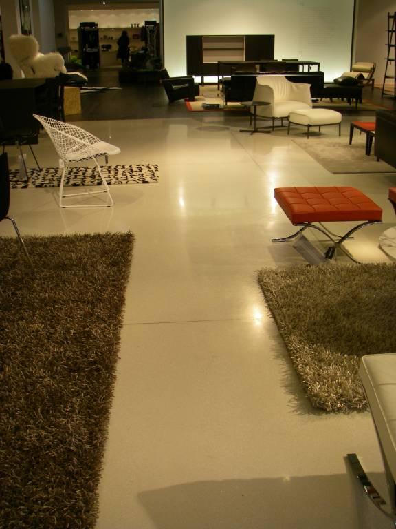 Sol intérieur en béton poli, granito, terrazzo