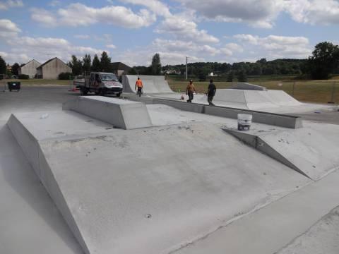 Skate parc en béton préfabriqué